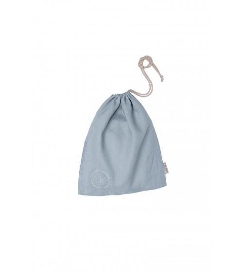 Lniany Worek Personalizowany Brudny Błękit