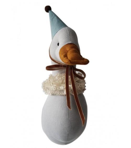 Kaczka cyrkowa kolor golębi w czapce turkusowej