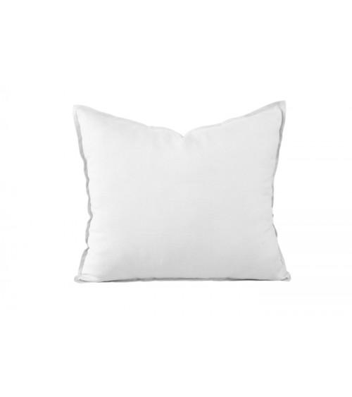 Lniana poduszka dekoracyjna w kolorze białym