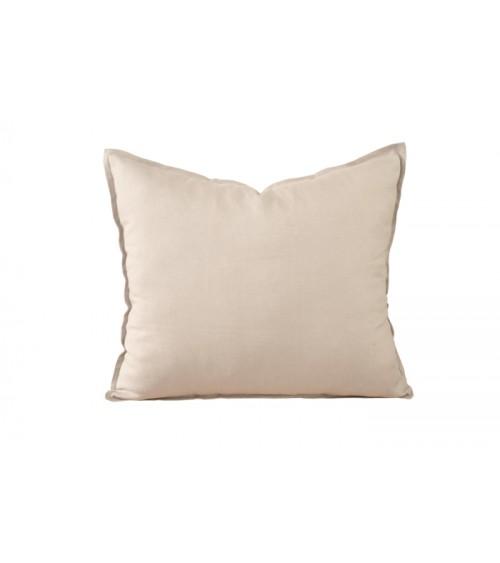 Lniana poduszka dekoracyjna w kolorze naturalny beż