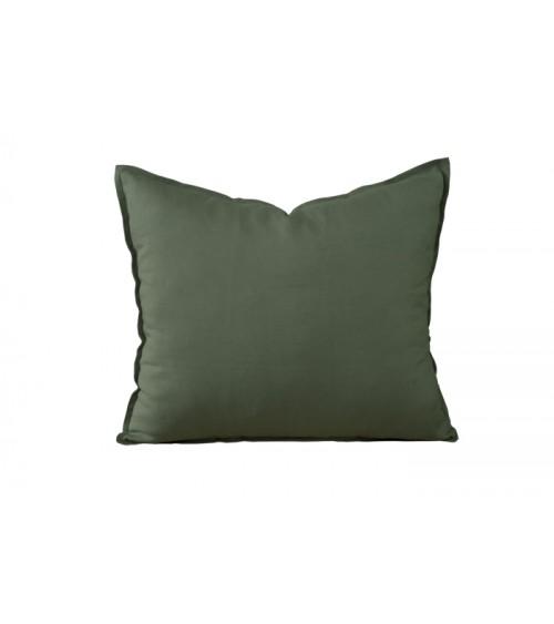 Lniana poduszka dekoracyjna w kolorze khaki