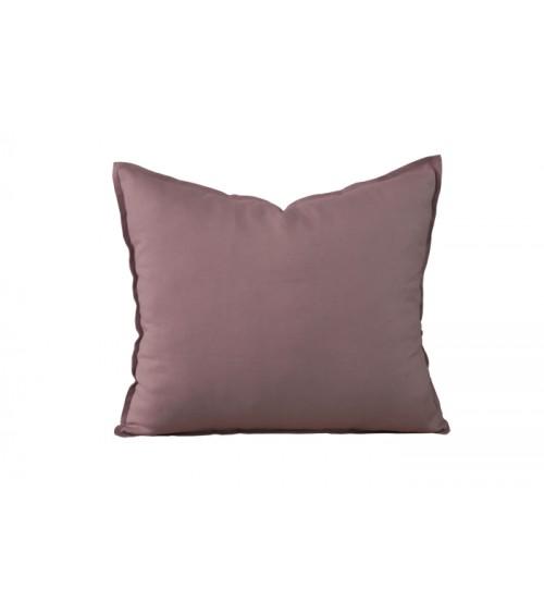 Lniana poduszka dekoracyjna w kolorze ciemny antyczny róż