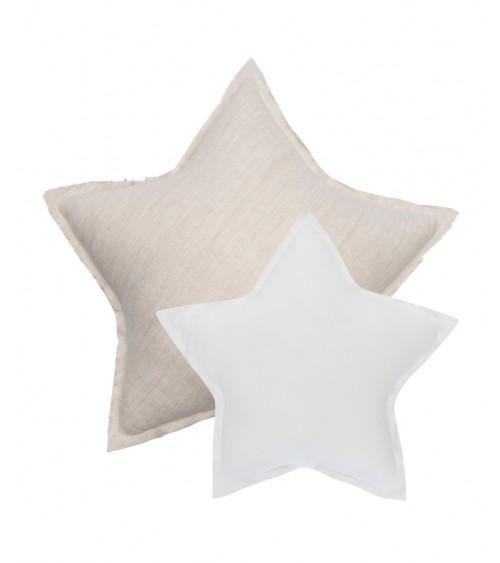Poduszki gwiazdki naturalny i biały