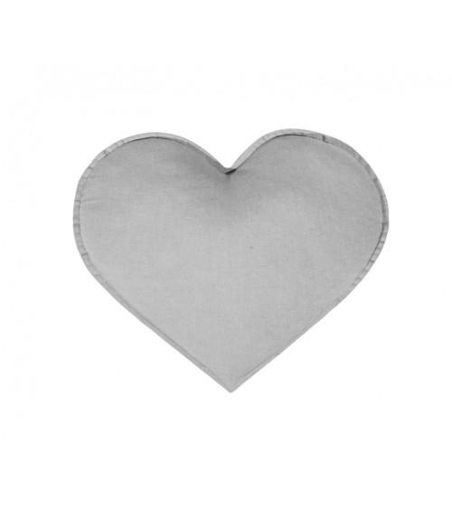 Poduszka serce szare
