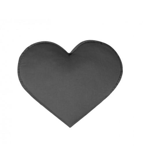 Poduszka serce grafit