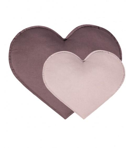Poduszka serce antyczny i brudny róż