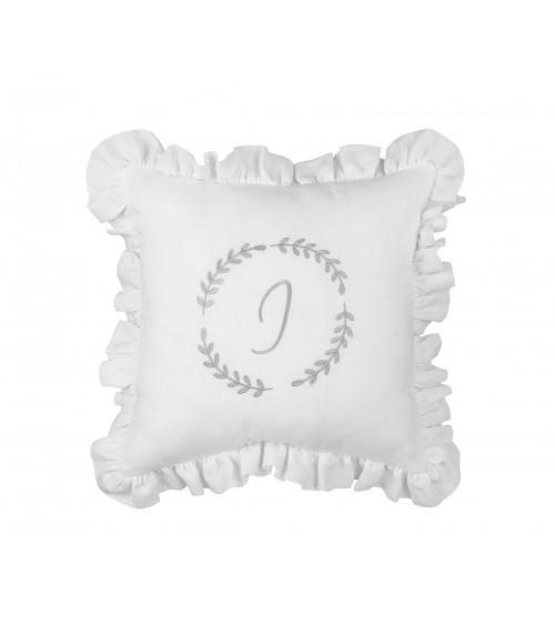 Lniana Poduszka Personalizowana Biały