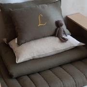 #eucalipto   Uwielbiamy ten kolor 🍃  Miłego wieczoru Kochani 🌜  •   We love this color 🍃   Have a nice evening Dear 🌜  #len #lino #linenbedding #lnianaposciel #naturalbedding #bedroom #kidsroom #beddingforkids #poscieldladzieci #babyroom #boysroomdecor #girlsroomdecor #bedspread #narzuta #lnianapoduszka #linenpillow