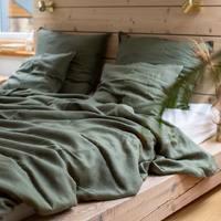 Czy macie ochotę na prawdziwe Bali w swojej sypialni ? 🌱  Taki efekt uzyskacie dzięki naszej przepięknej lnianej pościeli w kolorze Eukaliptusa 🌿  •   Do you want real Bali in your bedroom? 🌱   You can create this effect with our beautiful Eucalyptus linen bedding 🌿  #len #lino #linenlove #linenbedding #linenbedspread #linenbedroom #lnianaposciel #nature #eukaliptus