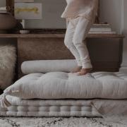 Beztroskiego weekendu Kochani 💫  •   Carefree weekend Dear 💫  #len #lino #linenlove #mattress #futon #puf #pouf #kidsroom #kidsspace #kidsinteriors #pokojdziecka #pokojdziewczynki #pokojchlopca #kinderzimmer
