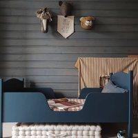 """To wnętrze jest takie """"nasze"""" ✨ Minimalistyczne , ponadczasowe ...czyli to co lubimy najbardziej 💫  @ania.koson uwielbiamy Twój styl 👌  •  This interior is so """"our"""" ✨   Minimalistic, timeless ... that's what we like the most 💫   @ania.koson we love your style 👌  #minimalism #kidsroom #pokojdziecka #details"""